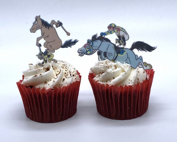 Horse & Jockey edible cake topper